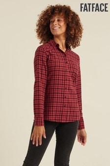 FatFace Pink Olivia Check Shirt