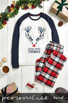 Personalised Men's Deer Christmas Pyjamas