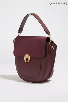 Warehouse Purple Satchel Lock Bag