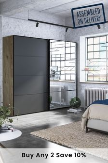 Jenson 2.5M Wood Sliding Wardrobe
