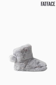 FatFace Grey Freya Fluffy Boots