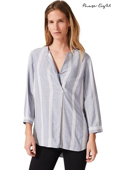 Phase Eight Blue Winnie Stripe Shirt