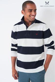 Crew Clothing Company Blue Padstow Pique Sweatshirt