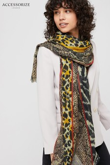 Accessorize Animal Patchwork Stole Scarf