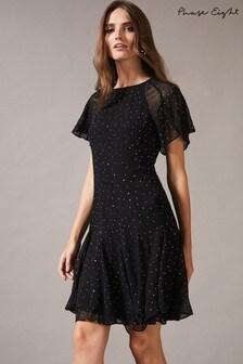 Phase Eight Black Nisha Sparkle Dress