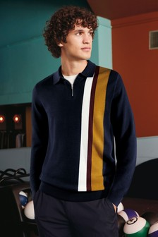 Asymmetric Stripe Polo
