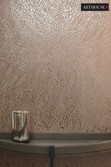 Arthouse Foil Swirl Abstract Wallpaper