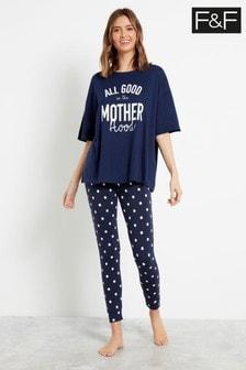 F&F Blue Motherhood Pyjamas