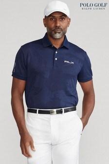 Polo Golf by Ralph Lauren Navy Camo Jacquard Short Sleeve Polo