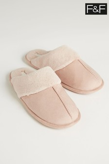 F&F Neutral Hardsole Slippers