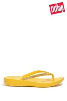 FitFlop Yellow iqushion Ombré Sparkle Flip Flops