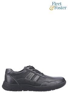 Fleet & Foster Black Harrison Lace-Up Shoes