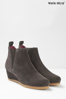 White Stuff Grey Issy Wedge Ankle Boots