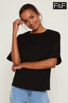 F&F Black Boxy Boyfriend T-Shirt