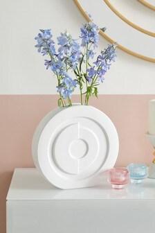 Circular Embossed Ceramic Vase