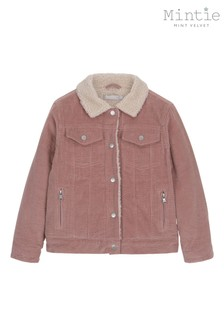 Mintie by Mint Velvet Rose Cord Borg Lined Jacket