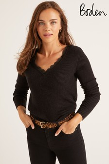 Boden Black Kelsey Jumper