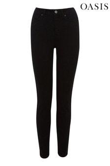 Oasis Black Jade Mid Rise Skinny Jeans