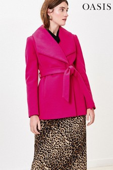 Oasis Pink Short Wrap Coat