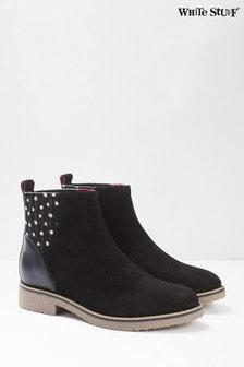White Stuff黑色Lana切爾西靴