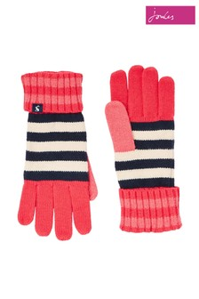 Joules Red Chillaway Knitted Gloves