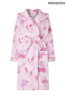 Monsoon Pink Vivianna Unicorn Chunky Robe