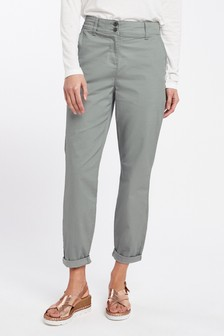 NEW Next Tall Charcoal Grey Linen Cotton Ladies Work Trousers UK 14T 16T 18T