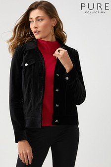 Pure Collection Black Velvet Jacket