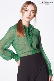 L.K.Bennett Eliza Ruffle Collar Blouse