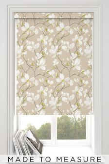 Magnolia Linen Green Made To Measure Roller Blind