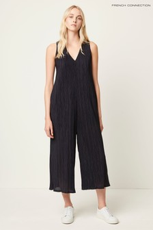 French Connection Blue Talissa Jersey Jumpsuit