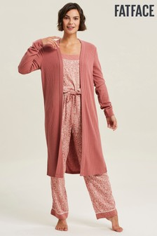 FatFace Pink Rib Cardigan