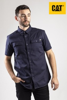 CAT® Blue Button Up Shirt