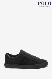 Polo Ralph Lauren Grey Sayer Suede Canvas Trainers