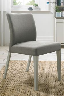 Set of 2 Bergen Soft Grey Upholstered Dining Chairs By Bentley Designs