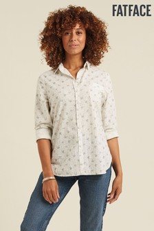 FatFace Natural Olivia Tea Ditsy Shirt