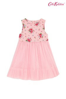 Cath Kidston® Notting Hill Rose Woven Dress With Mesh Skirt