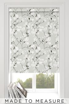 Magnolia Grey Floral Made To Measure Roller Blind