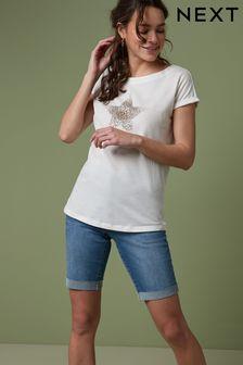 Curved Hem T-Shirt
