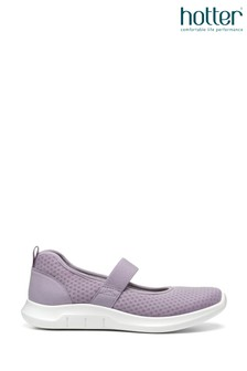 Hotter Purple Flow Slip On Mary Jane Shoes