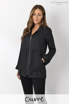 Live Unlimited Curve Black Tencel Utility Jacket
