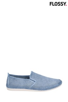 Flossy Blue Manso Slip-On Shoes