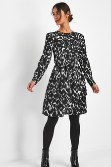 Tiered Printed Dress