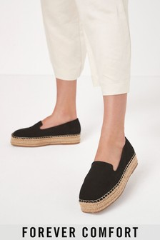 Forever Comfort® Suede Square Toe Espadrille Shoes