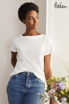 Boden Supersoft Slash Neck T-Shirt