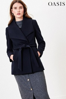 Oasis Blue Short Wrap Coat