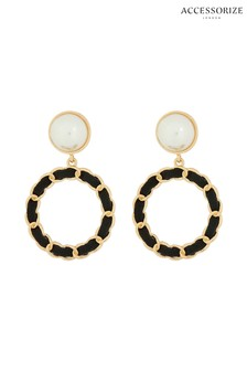 Accessorize Cream Carly Vintage Doorknocker Earrings