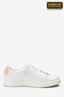 Barbour® International White Herrera Trainers