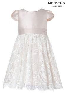 Monsoon Pink Baby Lace Bridesmaid Dress