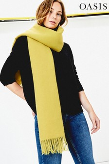Oasis Yellow Penny Supersoft Scarf